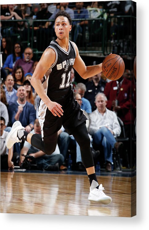 Nba Pro Basketball Acrylic Print featuring the photograph Bryn Forbes by Glenn James
