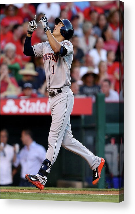 Second Inning Acrylic Print featuring the photograph Carlos Correa by Stephen Dunn