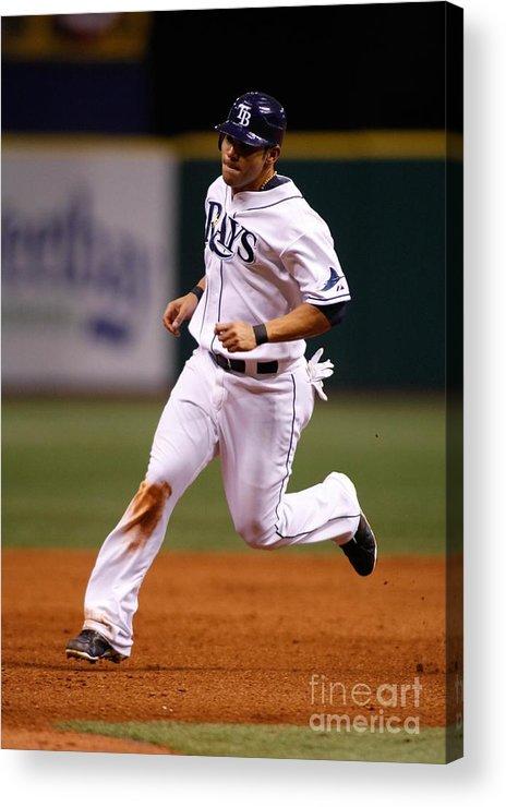 American League Baseball Acrylic Print featuring the photograph Carlos Pena by Ronald C. Modra