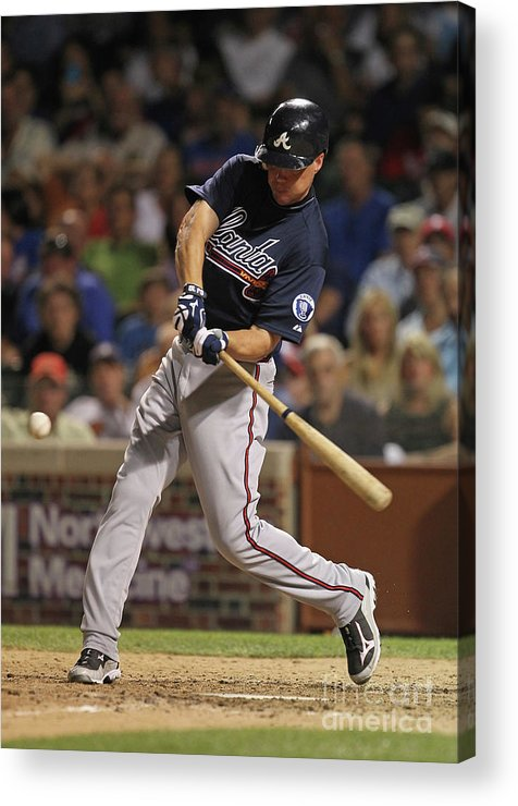 People Acrylic Print featuring the photograph Chipper Jones by Jonathan Daniel