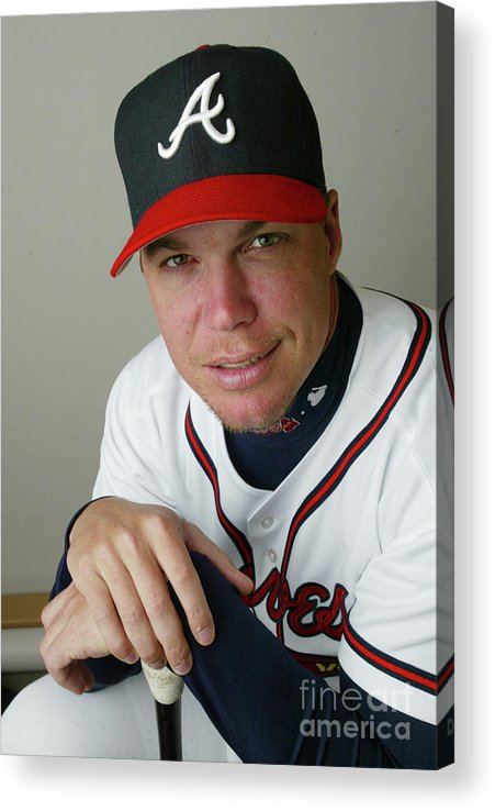 Media Day Acrylic Print featuring the photograph Chipper Jones by Rick Stewart