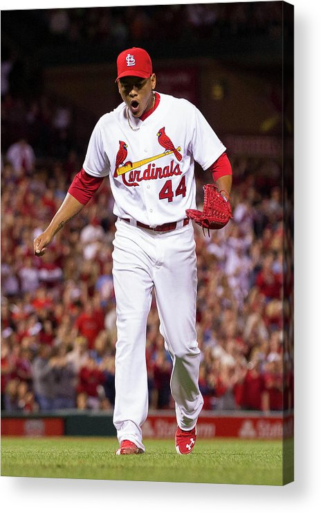 St. Louis Cardinals Acrylic Print featuring the photograph Chris Stewart by David Welker