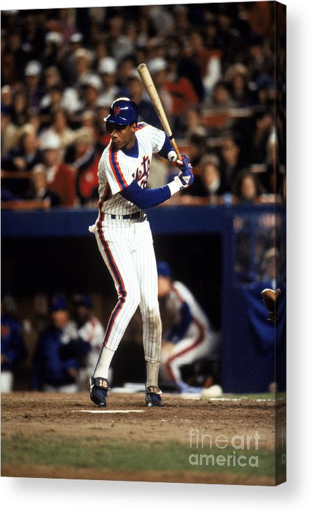 1980-1989 Acrylic Print featuring the photograph Darryl Strawberry by T.g. Higgins