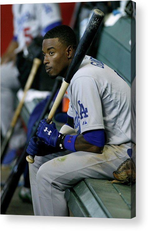 Ninth Inning Acrylic Print featuring the photograph Dee Gordon by Ralph Freso