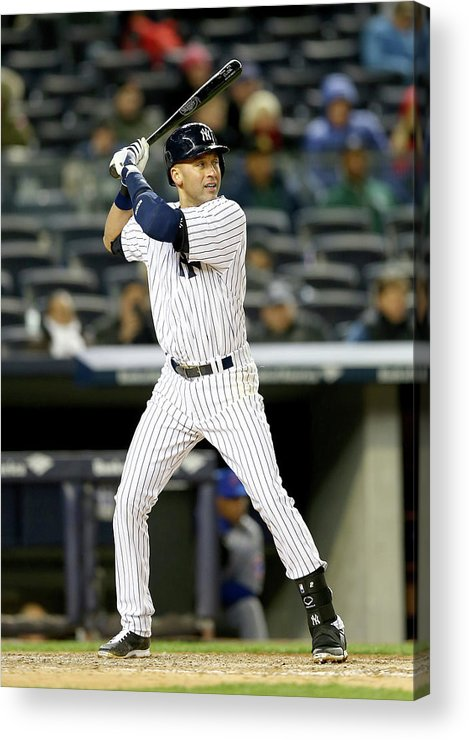 Game Two Acrylic Print featuring the photograph Derek Jeter by Elsa