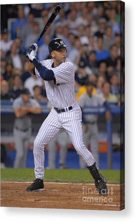People Acrylic Print featuring the photograph Derek Jeter by Mark Cunningham