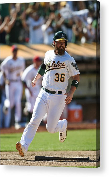 American League Baseball Acrylic Print featuring the photograph Derek Norris by Thearon W. Henderson