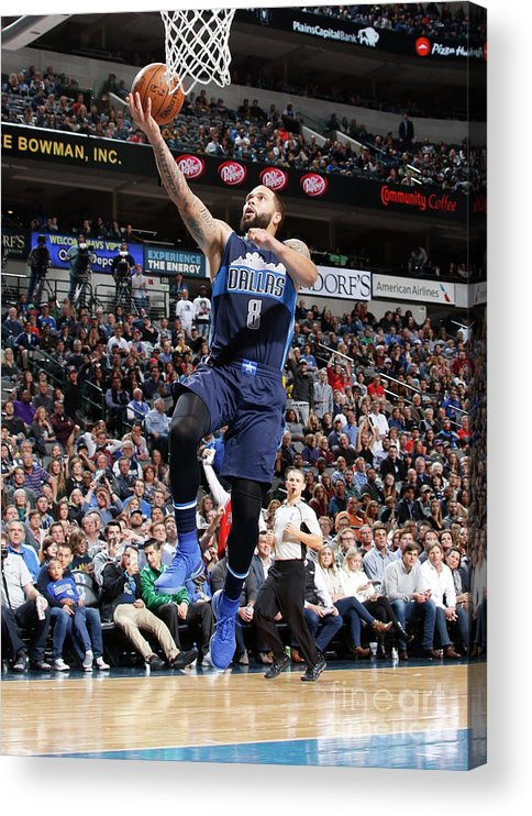 Nba Pro Basketball Acrylic Print featuring the photograph Deron Williams by Danny Bollinger