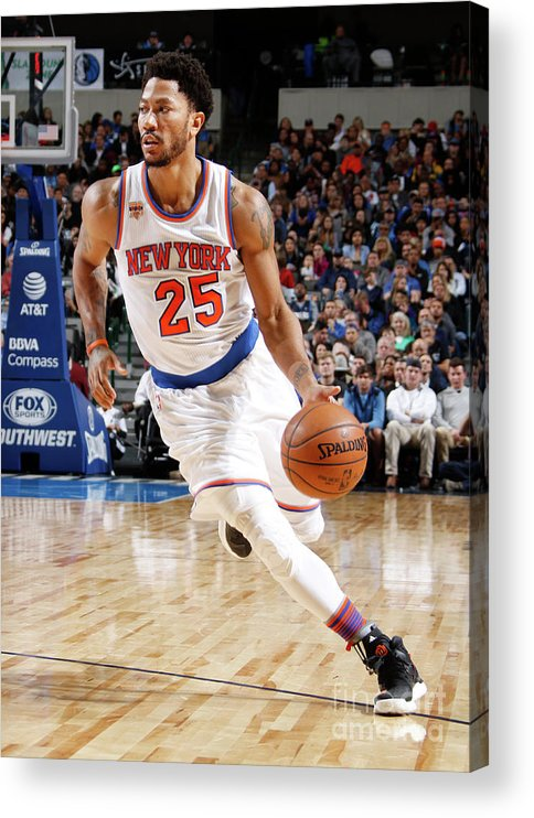 Nba Pro Basketball Acrylic Print featuring the photograph Derrick Rose by Danny Bollinger