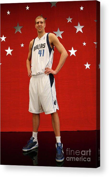 Nba Pro Basketball Acrylic Print featuring the photograph Dirk Nowitzki by Jesse D. Garrabrant
