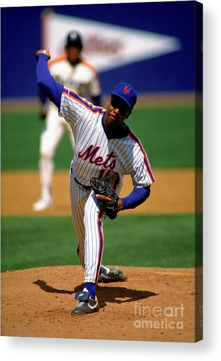 Dwight Gooden Acrylic Print featuring the photograph Dwight Gooden by Mlb Photos