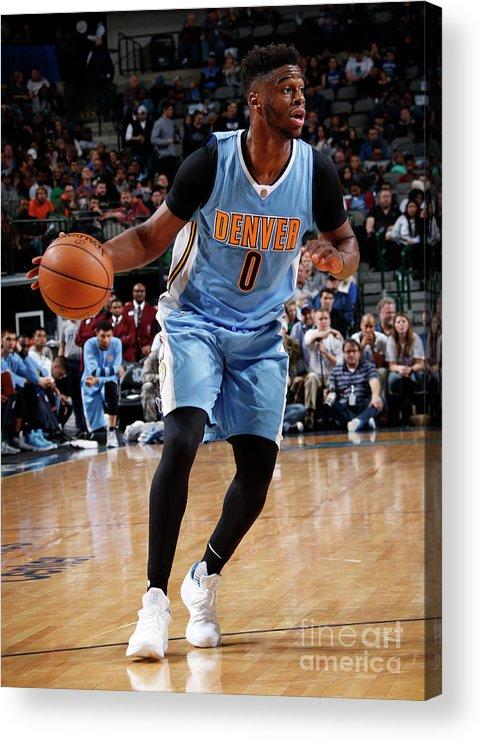Nba Pro Basketball Acrylic Print featuring the photograph Emmanuel Mudiay by Glenn James