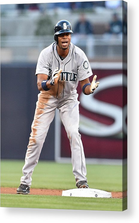American League Baseball Acrylic Print featuring the photograph Endy Chavez by Denis Poroy