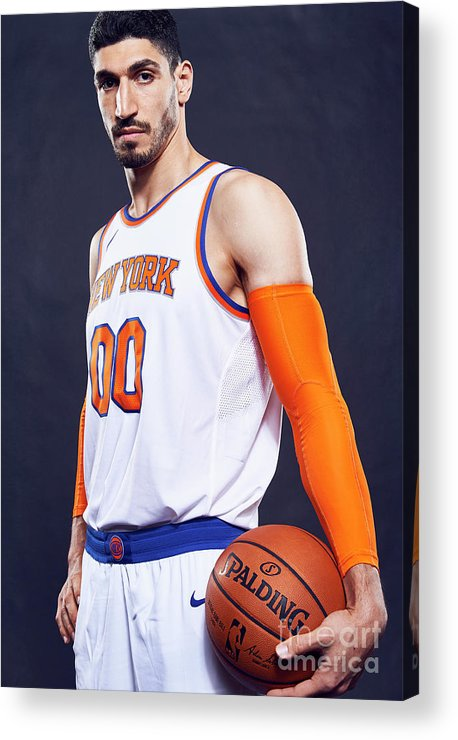Media Day Acrylic Print featuring the photograph Enes Kanter by Jennifer Pottheiser