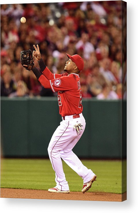 People Acrylic Print featuring the photograph Erick Aybar by Harry How