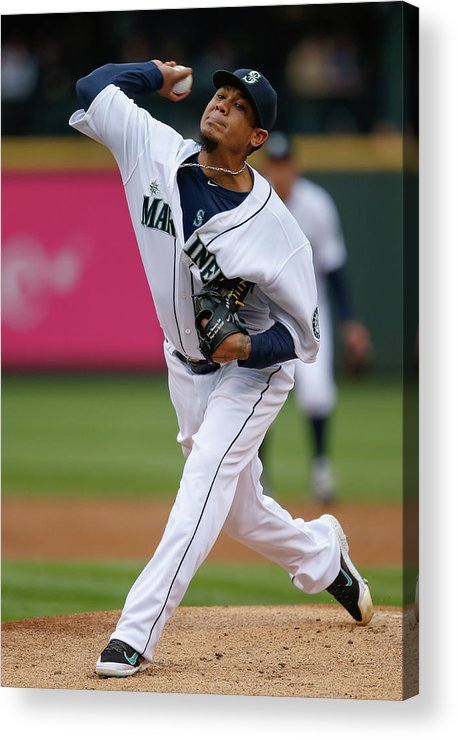 People Acrylic Print featuring the photograph Felix Hernandez by Otto Greule Jr