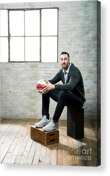 Nba Pro Basketball Acrylic Print featuring the photograph Frank Kaminsky by Nathaniel S. Butler