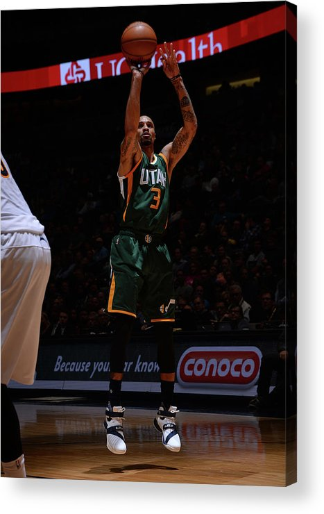 Nba Pro Basketball Acrylic Print featuring the photograph George Hill by Bart Young