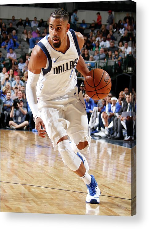 Nba Pro Basketball Acrylic Print featuring the photograph Gian Clavell by Danny Bollinger