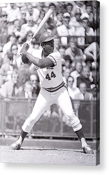 American League Baseball Acrylic Print featuring the photograph Hank Aaron by Ronald C. Modra/sports Imagery
