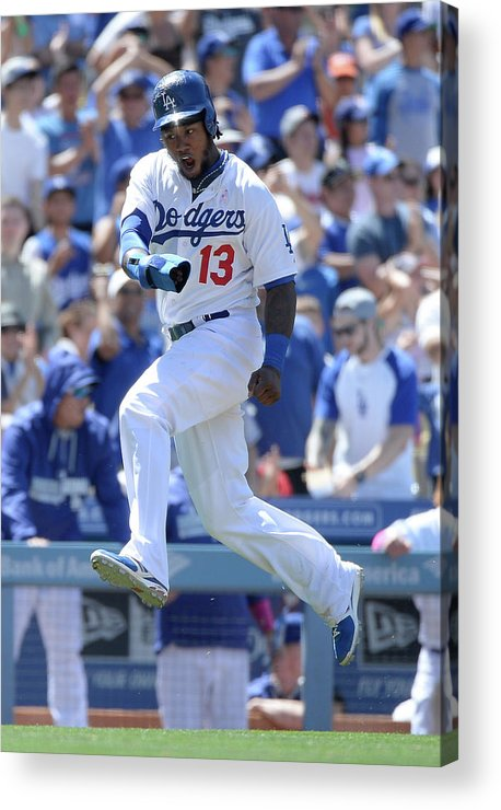 American League Baseball Acrylic Print featuring the photograph Hanley Ramirez and Adrian Gonzalez by Harry How