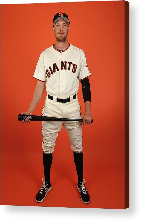 Media Day Acrylic Print featuring the photograph Hunter Pence by Christian Petersen
