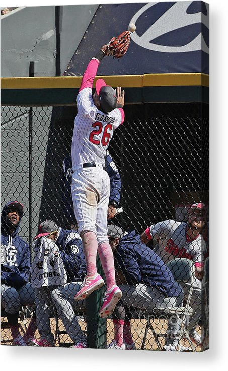 People Acrylic Print featuring the photograph Hunter Renfroe by Jonathan Daniel
