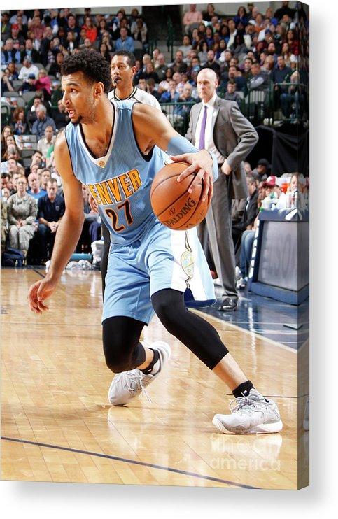 Nba Pro Basketball Acrylic Print featuring the photograph Jamal Murray by Danny Bollinger