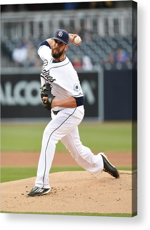 People Acrylic Print featuring the photograph James Shields by Denis Poroy