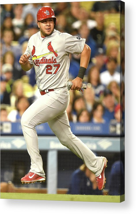 St. Louis Cardinals Acrylic Print featuring the photograph Jhonny Peralta and Jason Heyward by Harry How
