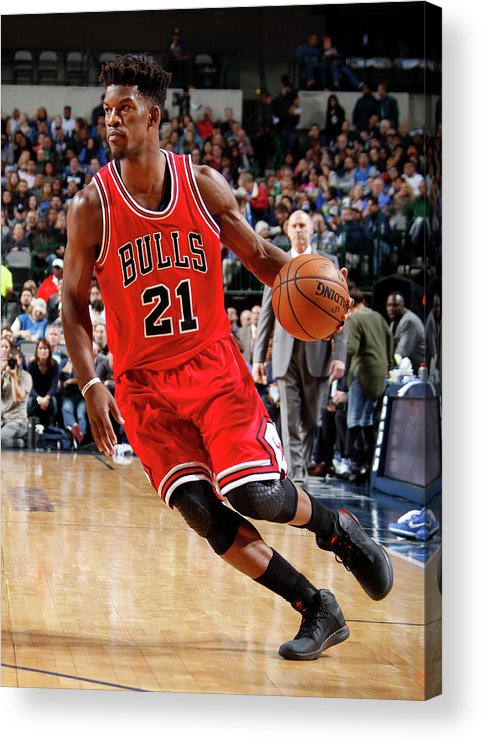 Nba Pro Basketball Acrylic Print featuring the photograph Jimmy Butler by Danny Bollinger