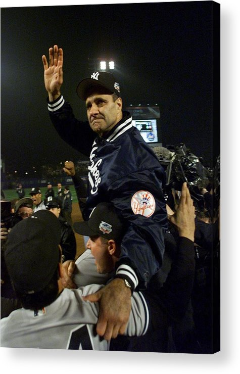 Celebration Acrylic Print featuring the photograph Joe Torre by Jed Jacobsohn