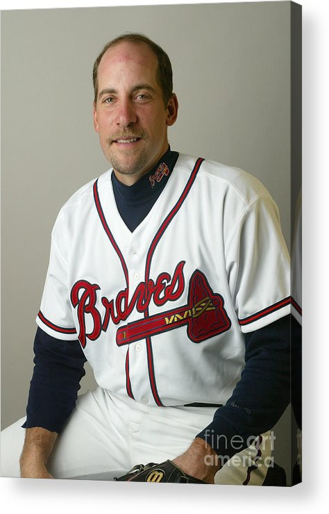 Media Day Acrylic Print featuring the photograph John Smoltz by Rick Stewart