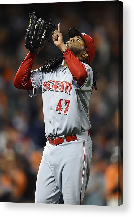 San Francisco Acrylic Print featuring the photograph Johnny Cueto by Thearon W. Henderson