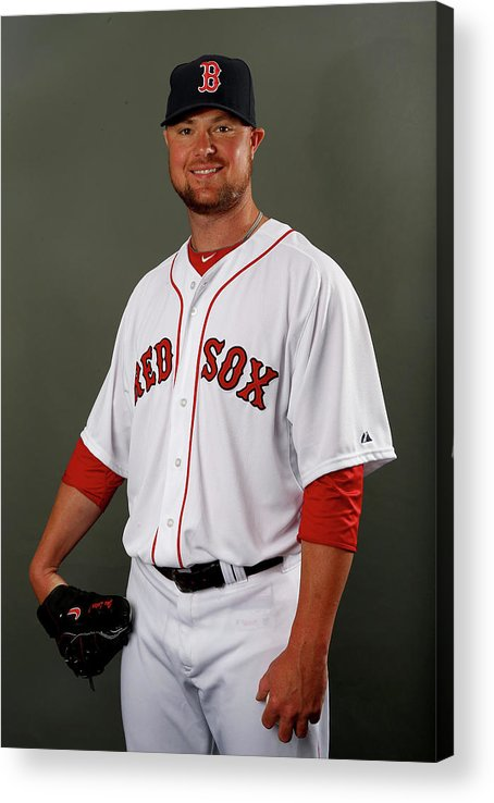 Jon Lester Acrylic Print featuring the photograph Jon Lester by Elsa