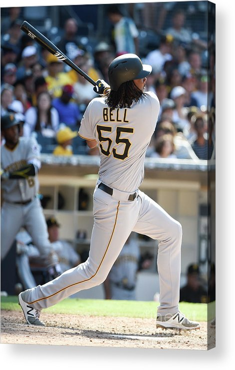 Ninth Inning Acrylic Print featuring the photograph Josh Bell by Denis Poroy