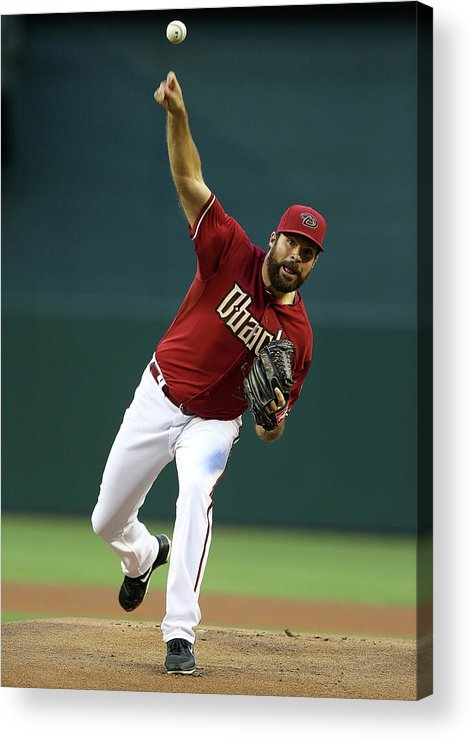 Baseball Pitcher Acrylic Print featuring the photograph Josh Fields by Christian Petersen