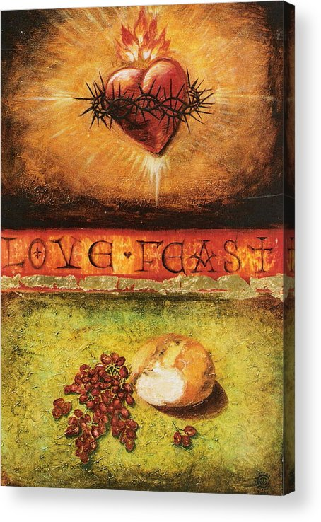 Love Feast Acrylic Print featuring the painting Love Feast by Teresa Carter