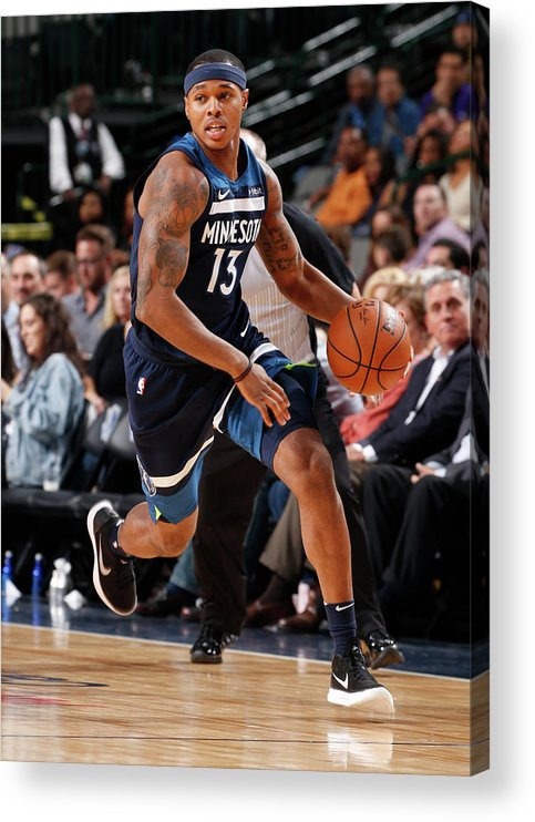 Nba Pro Basketball Acrylic Print featuring the photograph Marcus Georges-hunt by Glenn James