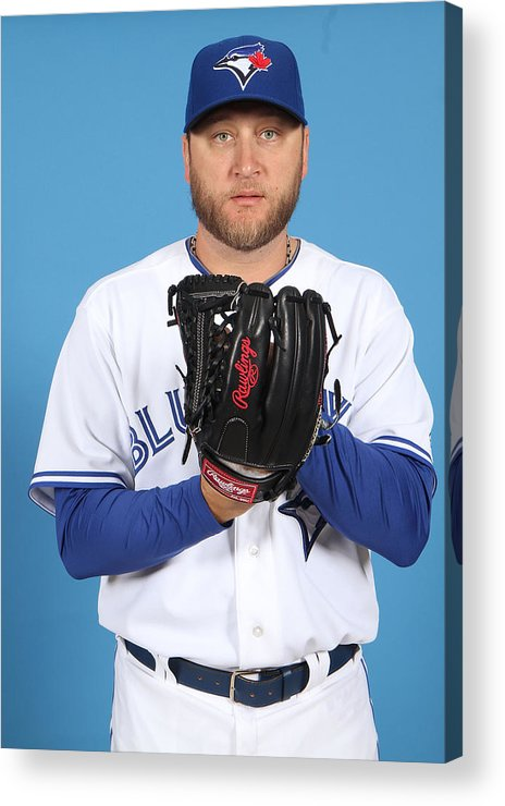 Media Day Acrylic Print featuring the photograph Mark Buehrle by Marc Serota