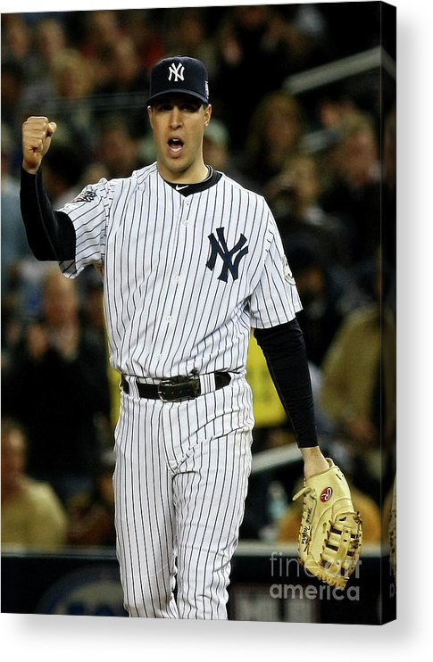 Game Two Acrylic Print featuring the photograph Mark Teixeira by Chris Mcgrath