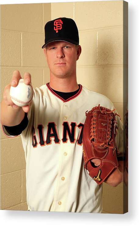 Media Day Acrylic Print featuring the photograph Matt Cain by Jamie Squire