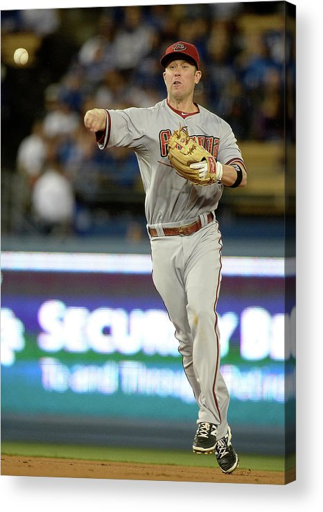 Second Inning Acrylic Print featuring the photograph Matt Kemp and Aaron Hill by Harry How