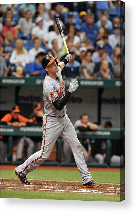 Baseball Catcher Acrylic Print featuring the photograph Matt Wieters by Al Messerschmidt