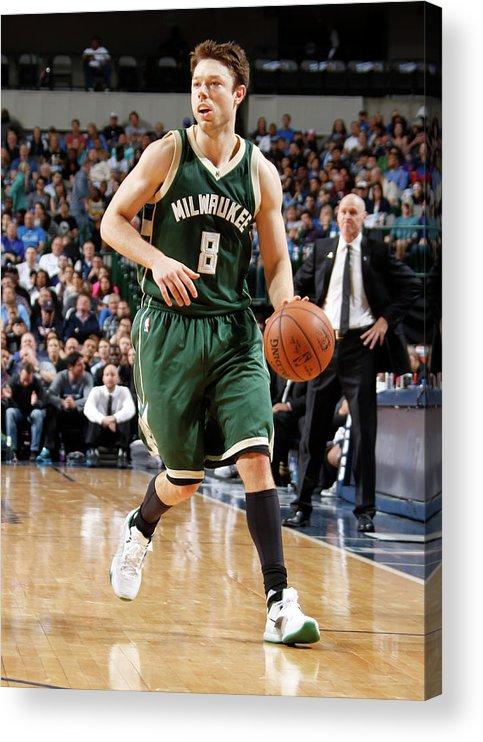 Nba Pro Basketball Acrylic Print featuring the photograph Matthew Dellavedova by Danny Bollinger