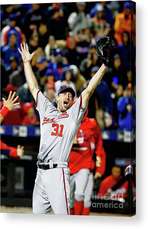 Three Quarter Length Acrylic Print featuring the photograph Max Scherzer by Al Bello