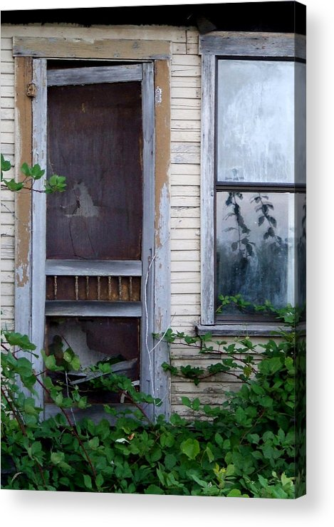 Abandoned Acrylic Print featuring the photograph No Solicitors by Everett Bowers