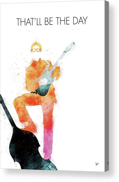 Buddy Acrylic Print featuring the digital art No056 MY BUDDY HOLLY Watercolor Music poster by Chungkong Art