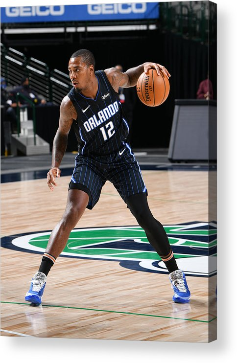 Nba Pro Basketball Acrylic Print featuring the photograph Orlando Magic v Dallas Mavericks by Glenn James
