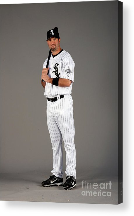Media Day Acrylic Print featuring the photograph Paul Konerko by Otto Greule Jr